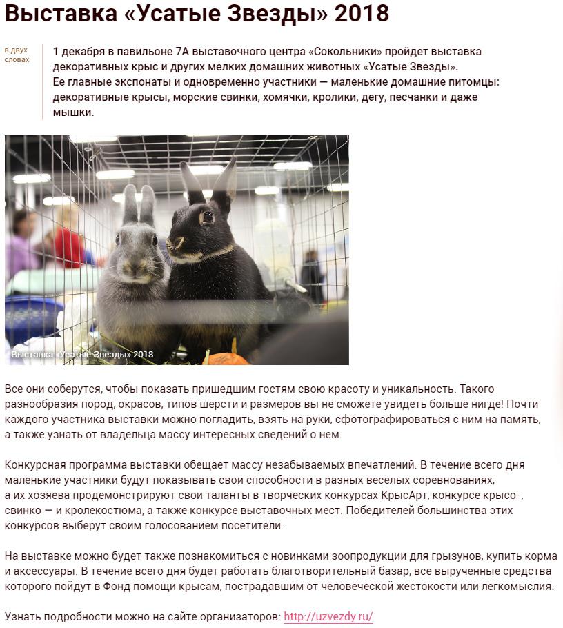 Kuda Moscow о выставке Усатые Звёзды-XXI